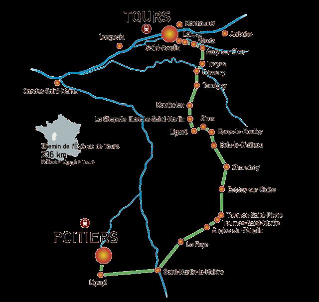 Chemin de Poitiers à Tours - Pèlerinages de France